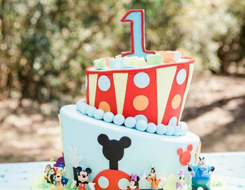 First Mickey Birthday Cake