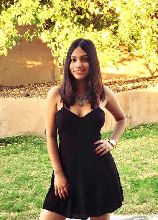 Priya ready for an event
